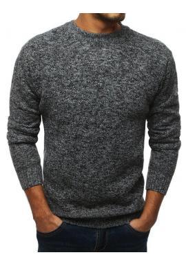 Čierny oteplený sveter pre pánov