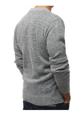 Pánsky oteplený sveter v svetlosivej farbe