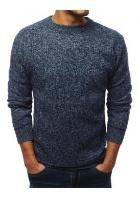Oteplený pánsky sveter modrej farby