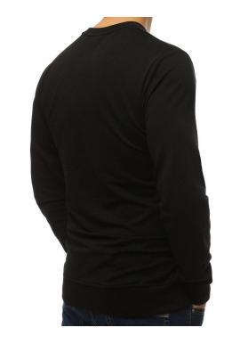 Pánska štýlová mikina s potlačou v čiernej farbe