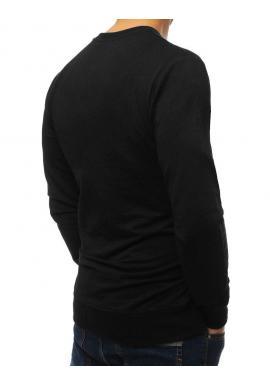 Čierna módna mikina s potlačou pre pánov