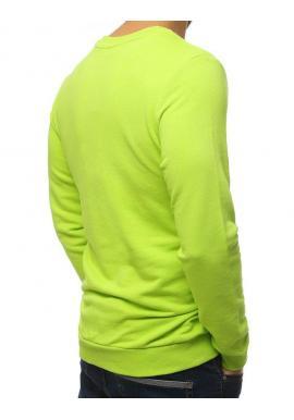 Zelená štýlová mikina s potlačou pre pánov