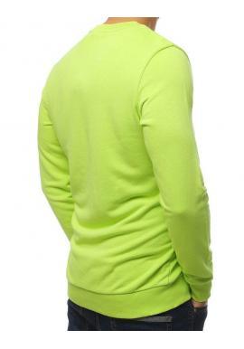 Módna pánska mikina zelenej farby s potlačou