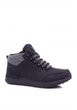 Čierna trekingová obuv pre pánov