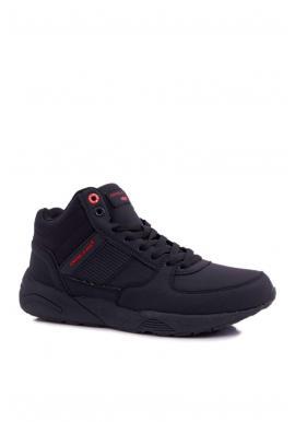 Trekingová pánska obuv čiernej farby