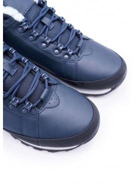 Trekingová pánska obuv tmavomodrej farby