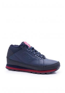 Pánska trekingová obuv v modro-červenej farbe