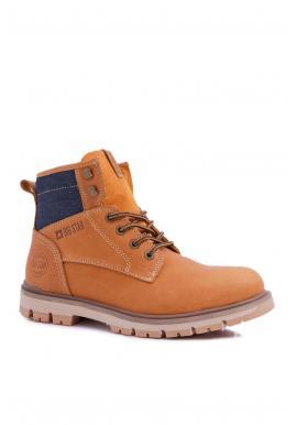 Hnedé kožené topánky Big Star pre pánov