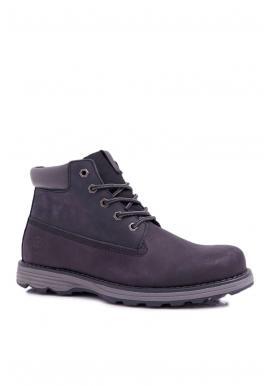 Kožené pánske topánky Big Star čiernej farby