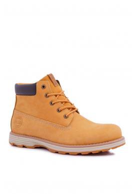 Pánske kožené topánky Big Star v hnedej farbe