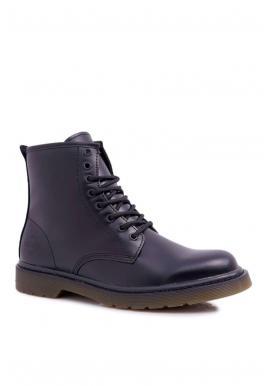 Čierne kožené topánky Big Star pre pánov