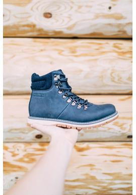 Pánske módne topánky Big Star v tmavomodrej farbe