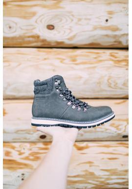 Sivé módne topánky Big Star pre pánov