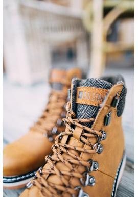 Módne pánske topánky Big Star hnedej farby
