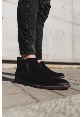 Čierne semišové topánky pre pánov