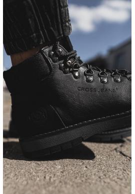 Módne pánske topánky čiernej farby