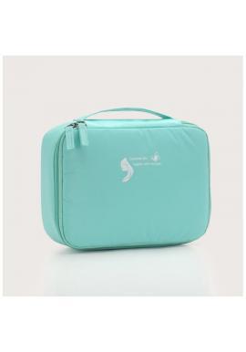 Dámska kozmetická taška v mätovej farbe