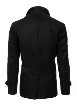 Pánsky jednoradový kabát v čiernej farbe