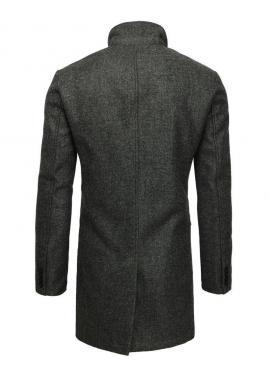 Jednoradový pánsky kabát tmavosivej farby