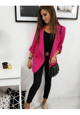 Dámske dlhšie sako s dlhým rukávom v ružovej farbe