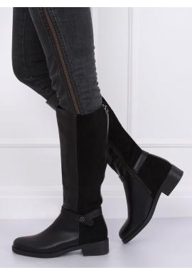 Čierne módne čižmy pre dámy