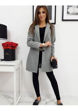 Dámsky jednoradový kabát v sivej farbe