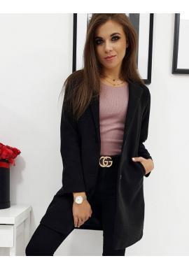 Čierny jednoradový kabát pre dámy