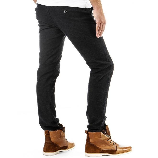 Pánske ležérne čierne nohavice