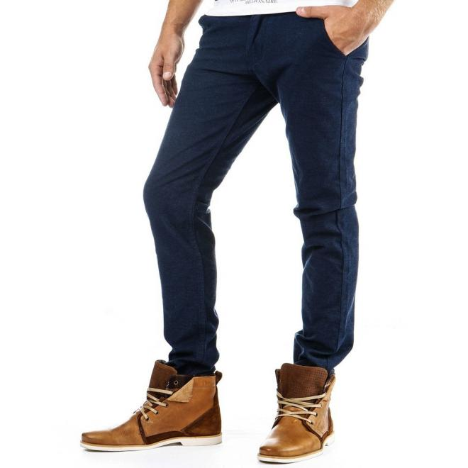Ležérne modré nohavice pre pánov