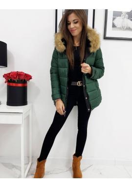Čierna obojstranná bunda s kapucňou pre dámy