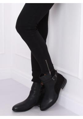 Módne dámske topánky čiernej farby s prackou