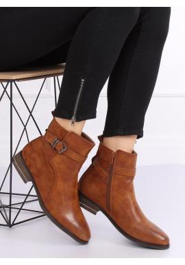 Hnedé módne topánky s prackou pre dámy