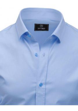 Svetlomodrá elegantná košeľa s dlhým rukávom pre pánov
