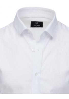 Pánska elegantná košeľa s dlhým rukávom v bielej farbe
