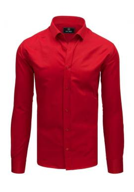 Elegantné pánske košele červenej farby s dlhým rukávom