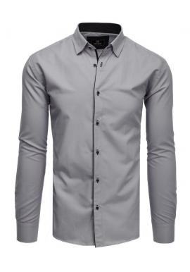 Sivá elegantná košeľa s dlhým rukávom pre pánov