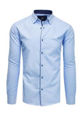 Elegantná pánska košeľa svetlomodrej farby s dlhým rukávom