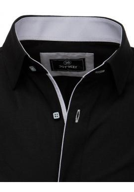 Elegantná pánska košeľa čiernej farby s dlhým rukávom