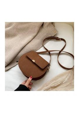 Hnedá módna kabelka pre dámy