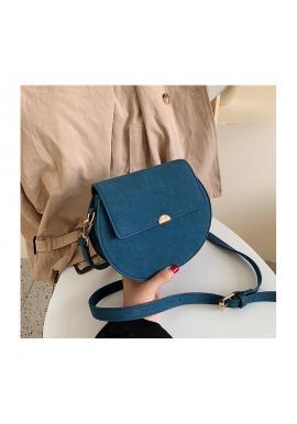Módna dámska kabelka modrej farby