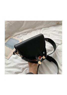 Módna dámska kabelka čiernej farby