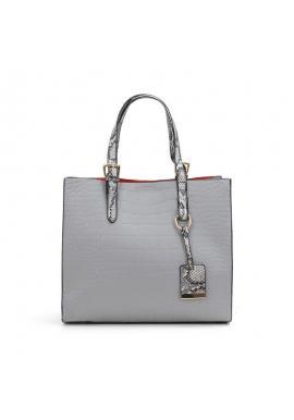 Módna dámska kabelka sivej farby s motívom hadej kože