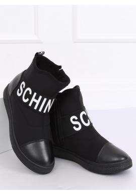 Dámske neoprénové topánky v športovom štýle v čiernej farbe