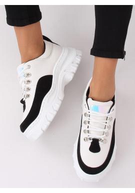Bielo-čierne originálne tenisky na masívnej podrážke pre dámy