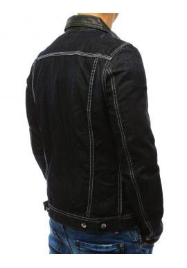Pánska riflová bunda v tmavomodrej farbe na gombíky