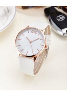 Čierne elegantné hodinky pre dámy na koženom remienku
