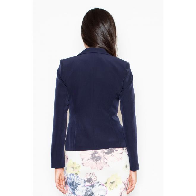 Biele elegantné sako v jednoduchom strihu pre dámy