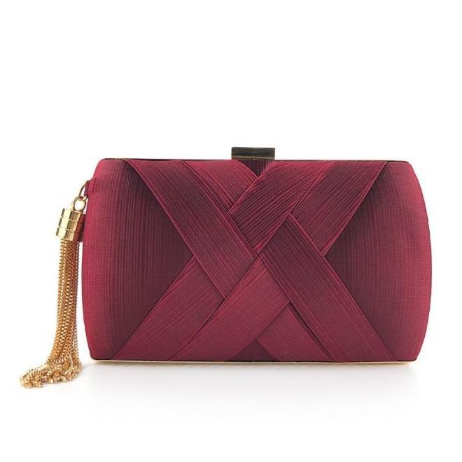 Večerná dámska kabelka bordovej farby