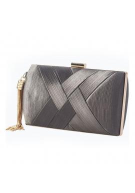 Tmavosivá večerná kabelka pre dámy