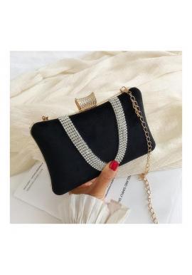 Dámska spoločenská kabelka v čiernej farbe